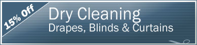 Cleaning Coupons | 15% off drapes, blinds and curtains | NY'S Carpet Cleaners